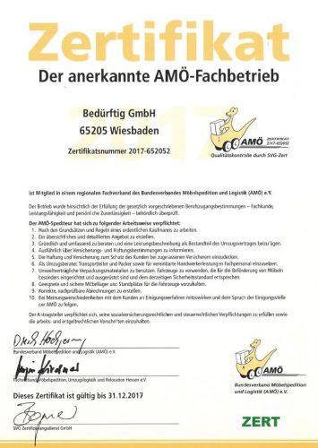 Amoe Zertifikat beduerftig