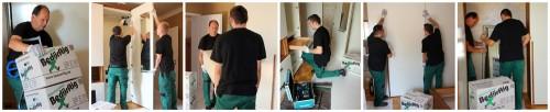 Personal der Bedürftig GmbH bei Montagearbeiten