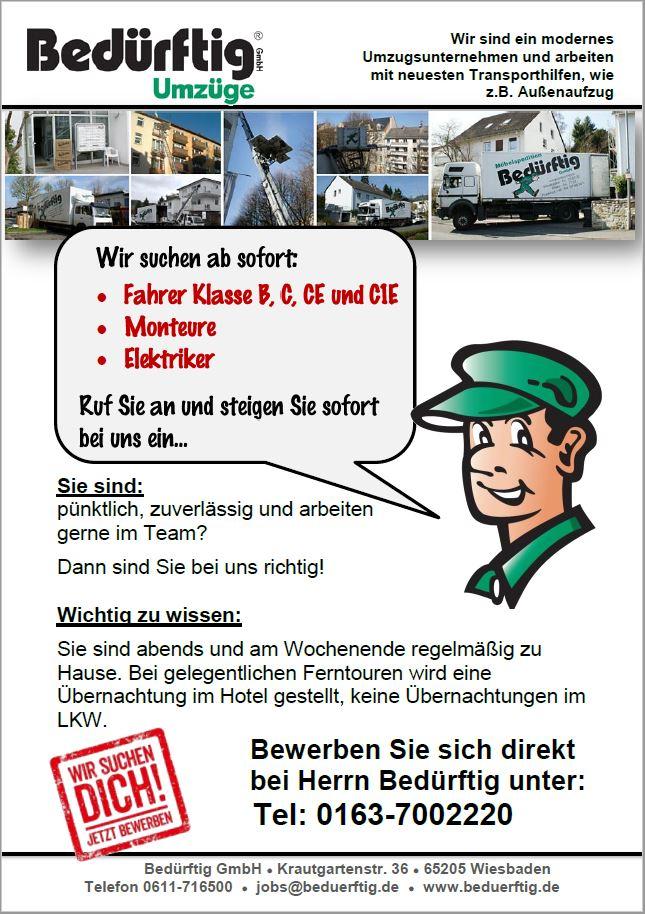 Stellenangebote Beduerftig GmbH Wiesbaden