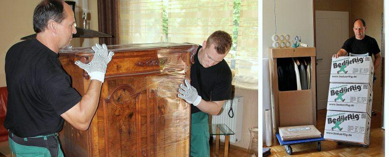 Professionelle Möbelpacker im Einsatz